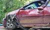 На Токсовском шоссе произошло лобовое столкновение