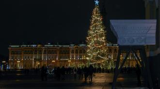 Новогодняя елка на Дворцовой площади попала в топ-3 самых высоких в России