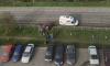 Автомобиль разнес ограждение на въезде в Лаврики