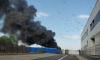 В транспортном парке на Бухарестской сгорел городской автобус