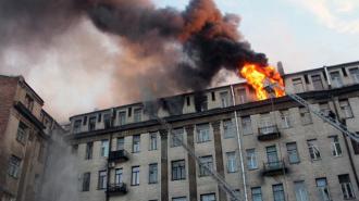 В результате пожара в центре Петербурга погиб один человек