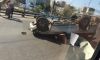 Внедорожник перевернулся и придавил водителя на Московском шоссе