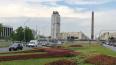 На Пулковском шоссе появился 3D-цветник