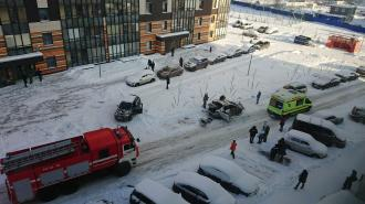 В Янино в результате взрыва газового баллончика в машине пострадал водитель