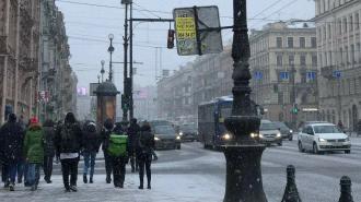 В понедельник в Петербурге пройдет небольшой снегопад
