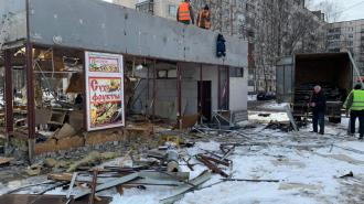 В Выборгском районе Петербурга снесли два павильона-нелегала с сухофруктами и шавермой
