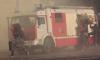 В Невском районе на территории промзоны спасатели тушат загоревшиеся емкости из-под мазута по второму уровню сложности