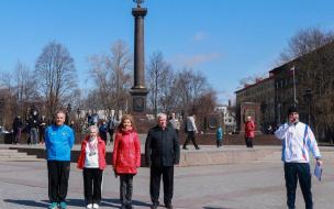 В Выборге прошла эстафета в честь 73-й годовщины Великой Победы