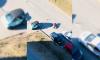 На лыжном переулке столкнулись байкер и доставщик еды