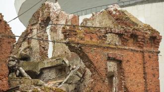 В Волгограде обрушился фронтон мельницы-памятника войны