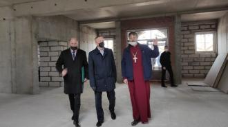 Губернатор посетил стройплощадку будущего храма Дмитрия Солунского