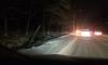 На Приморском шоссе автомобиль снес столб и оставил проезжую часть без света