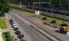 Водителей Петербурга удивил перекрытый Лесной проспект