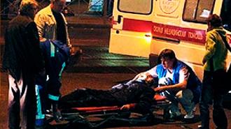 На Невском проспекте ВАЗ сбил двух пешеходов