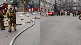 В Петербурге горел учебный корпус Военно-космической академии