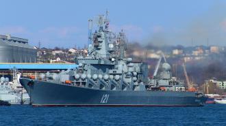 """Ракетный крейсер """"Москва"""" начал учения в Черном море"""