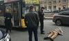 На Московском проспекте парень убегал от полиции и протаранил головой автобус