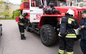 На территории Выборгапрошли пожарно-технические учения
