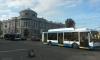 На Загородном встали трамваи и троллейбусы из-за упавшего фонаря