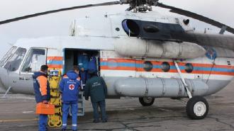 Севший на КАД вертолет собрал огромную пробку в районе Пулковского шоссе