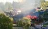 Страшный пожар в Горелово: в огне пострадала женщина