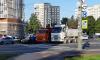 Два грузовика перегородили пересечение проспектов Дачного и Ветеранов