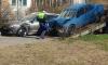 Около Стачек Nissan Sunny врезался в два автомобиля