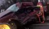 Под Гатчиной КамАЗ столкнулся с легковым автомобилем, где находились дети