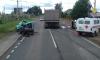 Во Всеволожском районе произошло серьезное ДТП с легковушкой и грузовиком