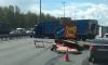 Движение на севере КАД после ДТП с фурой восстановили спустя несколько часов