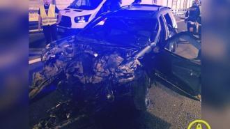 Водитель иномарки погиб в аварии на КАД
