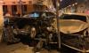 Водитель Kia впечатал Mercedes в здание кафе на Кадетской линии