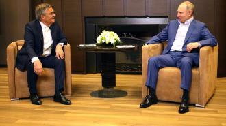 Путин встретился с главой IIHF Рене Фазелем