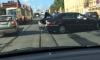 На Троицком проспекте Петербурга маршрутка протаранила Mercedes