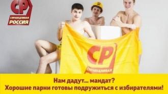 Справедливая Россия пиарит молодежный парламент с помощью эротических плакатов