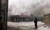 В заброшенном ларьке с шавермой у Ладожского вокзала горел строительный мусор