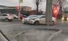 В Московском районе петербуржцы встали в километровую пробку из-за двух серых иномарок