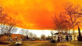 Оранжевое облако над Каталонией рассосалось