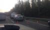 Легковушка врезалась в КАМАЗ на Выборгском: погибла женщина, пострадал ребенок