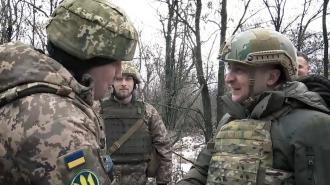 Зеленский проверил боевую готовность украинских военных на границе с Крымом