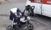 В Петербурге водитель иномарки сбил женщину с младенцем