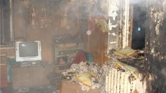 В Ломоносове в огне погиб хозяин квартиры