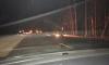 Пробка из-за сгоревшего бензовоза на Мурманском шоссе наконец-то рассосалась
