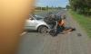 В аварии в Кингисеппском районе серьезно пострадал мотоциклист
