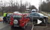 Видео из Москвы: дорогу не поделили три авто