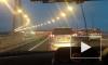 Мост на остров Русский открылся автомобильным флэшмобом и аварией