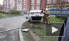 На Комендантском водитель не справился с управлением, автомобиль перевернулся, автовладелец скрылся