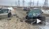 Очевидец снял последствие ДТП с двумя легковушками в Новосергеевке