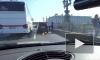 Свадебный кортеж попал в ДТП на Троицком мосту