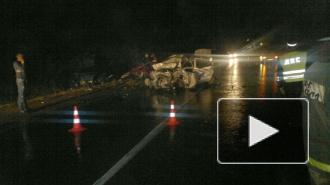 Сразу четыре автомобиля столкнулись в ночной аварии в Пушкине